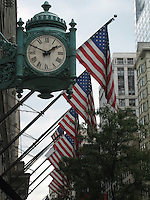American Flags on State Street, Chicago