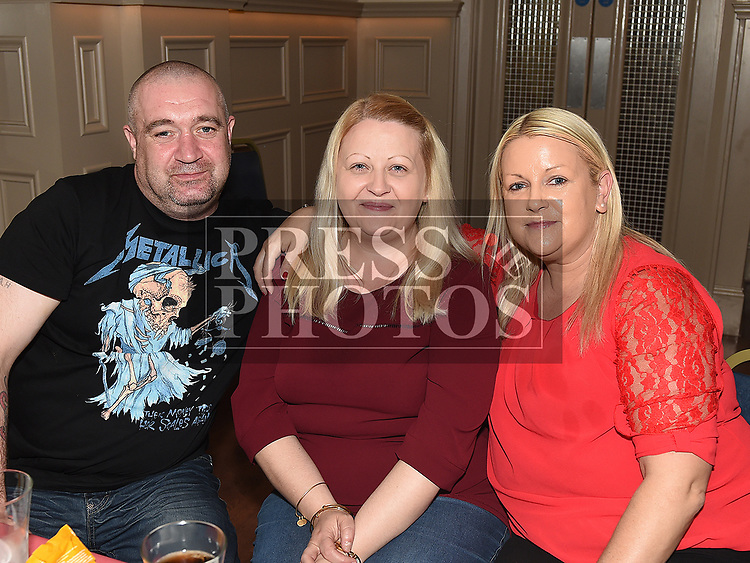 Alan Halpenny, Patricia and Helen Fox at the Rock Night For Rory in the Thatch. Photo:Colin Bell/pressphotos.ie