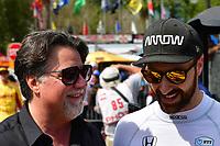 MICHAEL ANDRETTI (USA) TEAM PRINCIPAL ANDRETTI AUTOSPORT #5 JAMES HINCHCLIFFE (CAN) ARROWS SCMIDT PETERSON MOTORSPORTS (USA) HONDA