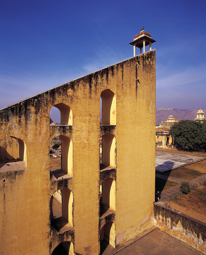 Part of the Jantar Mantar celestial observatory in Jaipur, Rajasthan, Indi