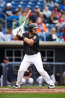 Quad Cities River Bandits designated hitter Anthony Hermelyn (23) during a game against the Burlington Bees on May 9, 2016 at Modern Woodmen Park in Davenport, Iowa.  Quad Cities defeated Burlington 12-4.  (Mike Janes/Four Seam Images)