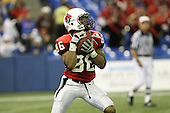 January 5th, 2008:  Ball State Dante Love (86) fields a kickoff during the third quarter of the International Bowl at the Rogers Centre in Toronto, Ontario Canada...Rutgers defeated Ball State 52-30.  ..Photo By:  Mike Janes Photography