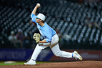 North Carolina Tar Heels relief pitcher Brett Daniels (19) in action against the North Carolina State Wolfpack in Game Twelve of the 2017 ACC Baseball Championship at Louisville Slugger Field on May 26, 2017 in Louisville, Kentucky. The Tar Heels defeated the Wolfpack 12-4. (Brian Westerholt/Four Seam Images)
