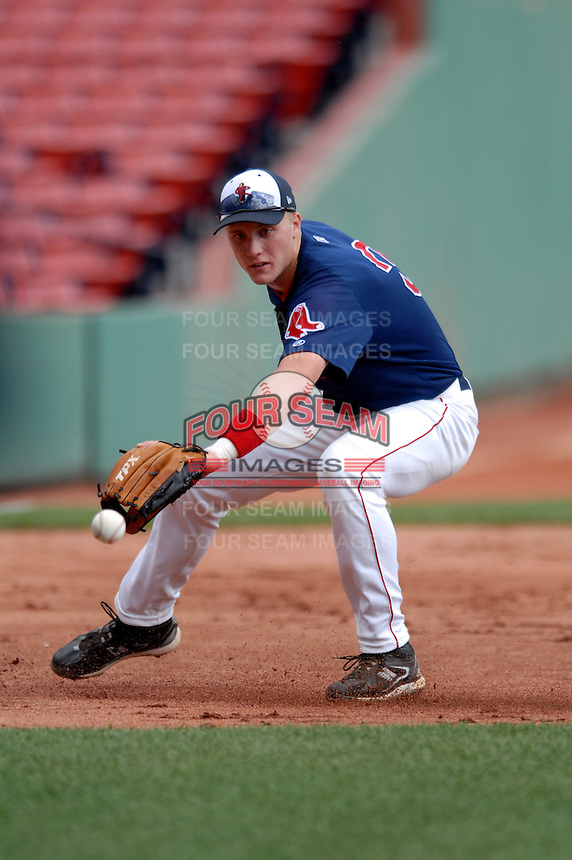 Lowell Spinners INF KOLBRIN VITEK prior to a game vs. the Jamestown Jammers at Fenway Park in Boston, Massachusetts on July 10, 2010 Photo By Ken Babbitt/Four Seam Images