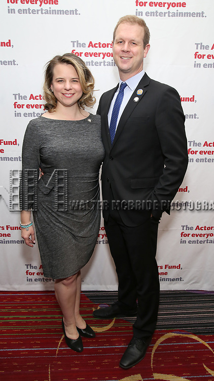 Irene Carl Sankoff and David Hein attend The Actors Fund Annual Gala at the Marriott Marquis on 5/8//2017 in New York City.