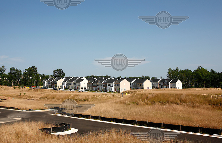 Houses in Woodbridge, Virginia. The area is suffering from a major collapse in the housing market following the subprime crisis and global credit crunch, which has forced the foreclosure and abandonment of numerous properties...