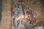 Early sixteenth century religious painting depicting the Day of Judgement called the Wenhaston Doom, Suffolk, England