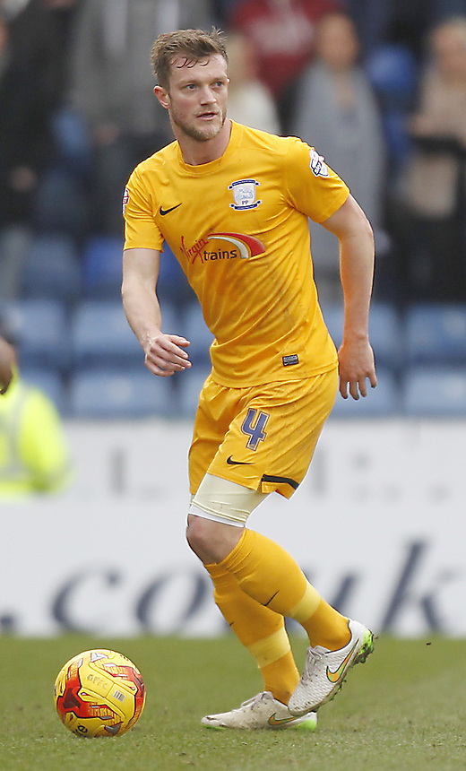 Preston North End's Scott Wiseman<br /> <br /> Photographer Mick Walker/CameraSport<br /> <br /> Football - The Football League Sky Bet League One - Oldham Athletic v Preston North End - Saturday 28th February 2015 - SportsDirect.com Park - Oldham<br /> <br /> &copy; CameraSport - 43 Linden Ave. Countesthorpe. Leicester. England. LE8 5PG - Tel: +44 (0) 116 277 4147 - admin@camerasport.com - www.camerasport.com