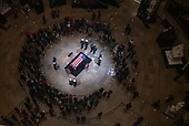 Former United States President George H.W. Bush lies in state in the Rotunda of the US Capitol on Monday, December 3, 2018.<br /> Credit: Ron Sachs / CNP<br /> (RESTRICTION: NO New York or New Jersey Newspapers or newspapers within a 75 mile radius of New York City)