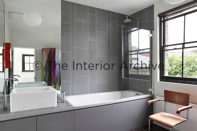 The spare bedroom was converted into a spacious bathroom