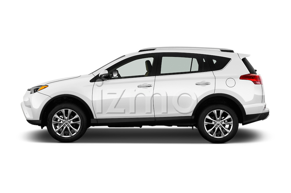 Car Driver side profile view of a 2018 Toyota RAV4 Limited 5 Door SUV Side View