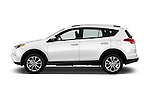 Car Driver side profile view of a 2016 Toyota RAV4 Limited 5 Door SUV Side View
