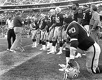 Oakland Raiders sideling 1978..(photo/Ron Riesterer)