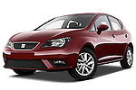 Low aggressive front three quarter view of a 2013 Seat Ibiza Style Hatchback .