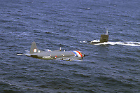 - NATO anti-submarine exercise in the Mediterranean, Dutch maritime patrol aircraft P3  Orion intercepts the US nuclear submarine Sunfish  <br /> <br /> - esercitazione NATO antisommergibili in Mediterraneo, aereo pattugliatore marittimo P3 Orion olandese intercetta il sommergibile nucleare USA Sunfish