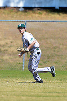 Slippery Rock outfielder Austin Benshadle (1) during practice before a game against the Wayne State Warriors on March 15, 2013 at Chain of Lakes Park in Winter Haven, Florida.  (Mike Janes/Four Seam Images)