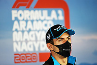 16th July 2020, Hungaroring, Budapest, Hungary; F1 Grand Prix of Hungary, drivers arrival and track inspection day;  6 Nicholas Latifi CAN, Williams Racing