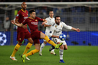 Stephan El Shaarawy of AS Roma and Dani Carvajal of Real Madrid compete for the ball during the Uefa Champions League 2018/2019 Group G football match between AS Roma and Real Madrid atOlimpico stadium , Rome, November, 27, 2018 <br />  Foto Andrea Staccioli / Insidefoto