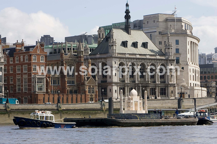 **ALL ROUND PICTURES FROM SOLARPIX.COM**.**NO UK NEWSPAPER PUBLICATION **UK MAGAZINE PUBLICATION ONLY** AND NO PUBLICATION IN FRANCE, SCANDINAVIA, AUSTRALIA AND GERMANY** .A replica model of the Taj Mahal was floated down the Thames this morning to launch 'Indian Now' - a celebration of India's economic and cultural links to London.JOB REF:4304- SFE       DATE: 17_07_07.**MUST CREDIT SOLARPIX.COM OR DOUBLE FEE WILL BE CHARGED* *UNDER NO CIRCUMSTANCES IS THIS IMAGE TO BE REPRODUCED FOR ANY ONLINE EDITION WITHOUT PRIOR PERMISSION*