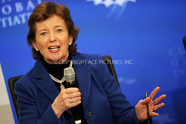 WWW.ACEPIXS.COM . . . . . .September 20, 2011...New York City...Mary Robinson speaks at the Clinton Global Initiative on Sept. 20, 2011 New York City.......Please byline: KRISTIN CALLAHAN - ACEPIXS.COM.. . . . . . ..Ace Pictures, Inc: ..tel: (212) 243 8787 or (646) 769 0430..e-mail: info@acepixs.com..web: http://www.acepixs.com .