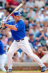 3 July 2005: Jason Dubois, rookie outfielder for the Chicago Cubs, at bat during a game against the Washington Nationals. The Nationals defeated the Cubs 5-4 in 12 innings to sweep the 3-game series at Wrigley Field in Chicago, IL. Mandatory Photo Credit: Ed Wolfstein
