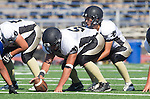 Culver City, CA 09/12/13 - Jake Rathbun (Peninsula #51) and Emilio Nunziati (Peninsula #9) in action during the Peninsula vs Culver City Junior Varsity game at Culver City High School.