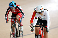 Jade Perry of Waikato BOP competes in the U15 Girls derby semi final at the Age Group Track National Championships, Avantidrome, Home of Cycling, Cambridge, New Zealand, Friday, March 17, 2017. Mandatory Credit: © Dianne Manson/CyclingNZ  **NO ARCHIVING**