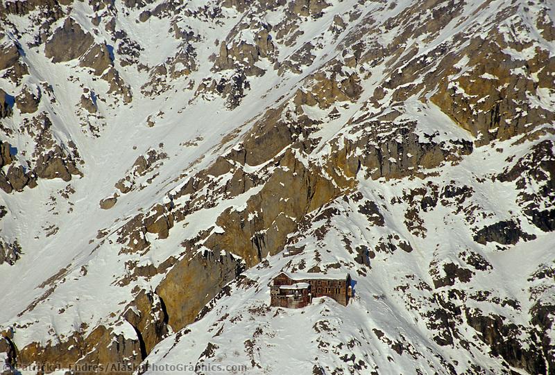 Erie mine bunkhouse at the erie mine, kennicottt copper mine, Wrangell St. Elias National Park, Alaska.