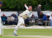 June 12th 2017, Trafalgar Road Ground, Southport, England; Specsavers County Championship Division One Day Four; Lancashire versus Middlesex; Paul Stirling of Middlesex bowls during the second Lancashire innings