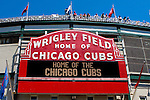 The home of the Chicago Cubs- Wrigley Field on a summer afternoon, Chicago, Illinois