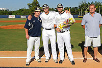 5 May 2012:  FIU pitcher Christian Malbrough (26) poses with teammates during the Senior Day Ceremony prior to the game.  The FIU Golden Panthers defeated the Middle Tennessee State University Blue Raiders, 12-6, at University Park Stadium in Miami, Florida.