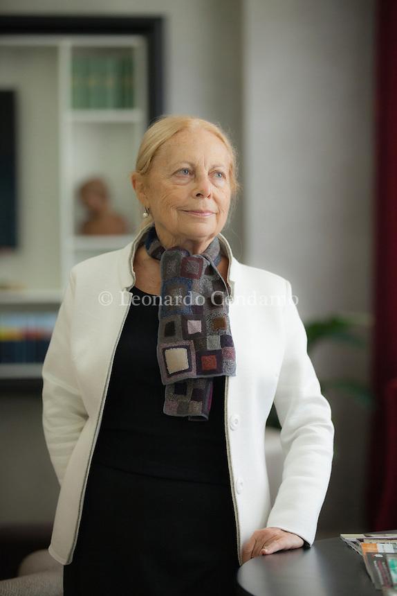Silvia Vegetti Finzi è nata a Brescia il 5.10.1938. Laureatasi in Pedagogia, si è specializzata in Psicologia Clinica presso l'Istituto di Psicologia. Pordenonelegge, settembre 2015. © Leonardo Cendamo