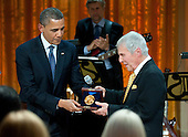 United States President Barack Obama awards a Gershwin Prize to legendary composer and performer Burt Bacharach at a concert honoring Bacharach and fellow prize winner Hal David, in the East Room at the White House in Washington on May 9, 2012.  .Credit: Kevin Dietsch / Pool via CNP