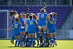 ORLANDO, FL - DECEMBER 03: UCLA gets pumped up prior to the start of the Division I Women's Soccer Championship held at Orlando City SC Stadium on December 3, 2017 in Orlando, Florida. Stanford defeated UCLA 3-2 for the national title. (Photo by Jamie Schwaberow/NCAA Photos via Getty Images)