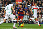 09.01.2016 Camp Nou, Barcelona, Spain. La Liga day 19 march between FC Barcelona and Granada. Leo Messi with the ball