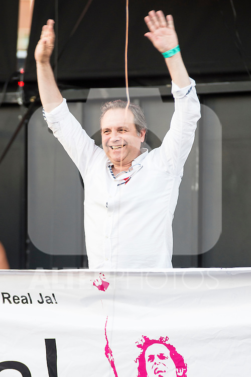 PSOE politician Miguel Angel Carmona attends to the protest during Gay Pride celebrations in Madrid, Spain. July 04, 2015.<br />  (ALTERPHOTOS/BorjaB.Hojas)