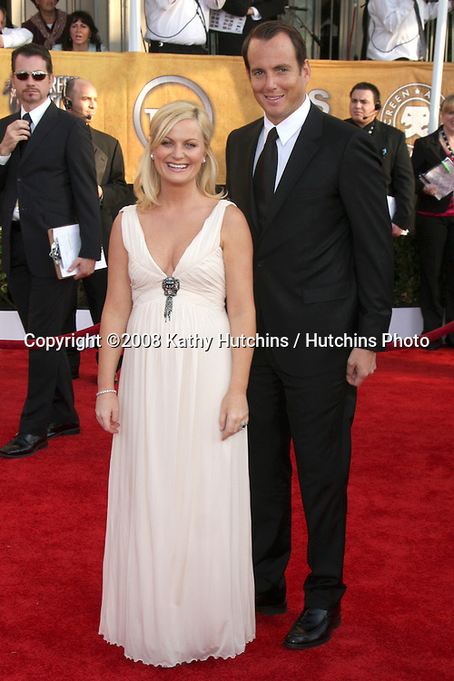 Amy Poehler & Will Arnett. arriving at the Screen Actors Guild Awards, at the Shrine Auditorium in Los Angeles, CA on .January 25, 2009.©2008 Kathy Hutchins / Hutchins Photo..