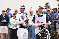 Bubba Watson (USA) prepares to tee off on 9 during round 1 of the 2019 US Open, Pebble Beach Golf Links, Monterrey, California, USA. 6/13/2019.<br /> Picture: Golffile | Ken Murray<br /> <br /> All photo usage must carry mandatory copyright credit (© Golffile | Ken Murray)