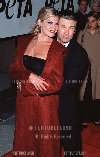 "18SEP99: ""Third Rock from the Sun"" star KRISTEN JOHNSTON & actor ALEC BALDWIN at PETA's Party of the Century, in Los Angeles.     .© Paul Smith / Featureflash"