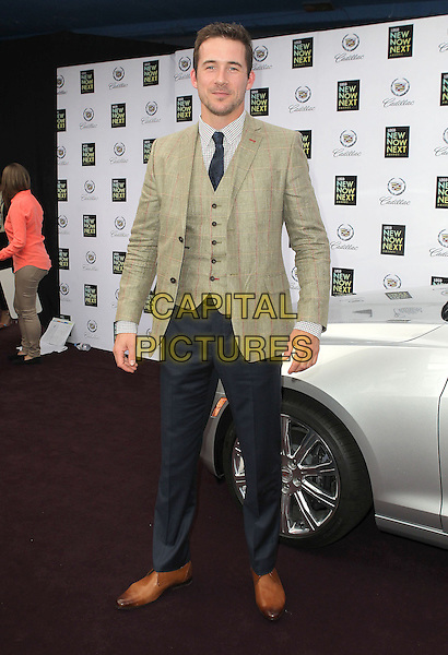 Barry Sloane.2013 NewNowNext Awards held at The Fonda Theatre, Los Angeles, California, USA, 13th April 2013..full length green jacket blazer waistcoat jeans tie brown tan shoes tweed plaid .CAP/ADM/KB.©Kevan Brooks/AdMedia/Capital Pictures