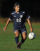 Nicholas Gonsalves #22 of Plainview JFK makes a pass during the first half of a Nassau County Conference AA-3 boys soccer game against host Westbury High School on Friday, Oct. 14, 2016. Plainview JFK won by a score of 1-0.