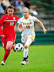 14 October 2010: University of Vermont Catamount midfielder/defender Emily Milbank, a Senior from Shelburne, VT, in action against the University of Hartford Hawks at Centennial Field in Burlington, Vermont. The Hawks defeated the Lady Cats 6-2 in America East play. Mandatory Credit: Ed Wolfstein Photo