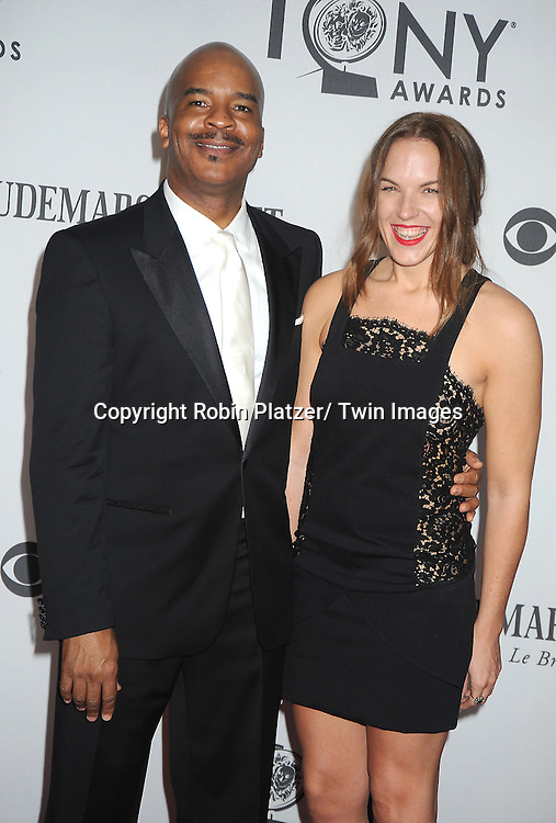David Alan Grier and date attends th 66th Annual Tony Awards on June 10, 2012 at The Beacon Theatre in New York City.