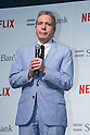American TV producer Dave Spector speaks during a media event to announce a business alliance for the Netflix video delivery service in Japan on August 24, 2015, Tokyo, Japan. From September 2nd SoftBank's 37 million users will be able to access a Netflix Inc. subscription starting at 650 JPN (5.34 USD) for a Standard SD plan. The companies also plan to work on joint content creation projects. (Photo by Rodrigo Reyes Marin/AFLO)