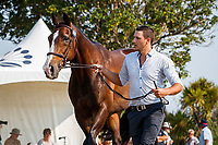NZL-Jake Barham presents Atlan during the First Horse Inspection for the Auckland Council CCI4*-L. 2019 NZL-Puhinui International Three Day Event. Puhinui Reserve. Auckland. Thursday 5 December. Copyright Photo: Libby Law Photography