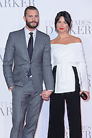 www.acepixs.com<br /> <br /> February 9 2017, London<br /> <br /> Jamie Dornan and Amelia Warner arriving at the UK Premiere of 'Fifty Shades Darker' at the Odeon Leicester Square on February 9, 2017 in London, United Kingdom. <br /> <br /> By Line: Famous/ACE Pictures<br /> <br /> <br /> ACE Pictures Inc<br /> Tel: 6467670430<br /> Email: info@acepixs.com<br /> www.acepixs.com