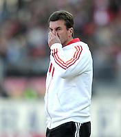 FUSSBALL   1. BUNDESLIGA  SAISON 2011/2012   10. Spieltag 1 FC Nuernberg - VfB Stuttgart         22.10.2011 Trainer Dieter Hecking (1 FC Nuernberg)