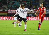 Schusschance für Thomas Mueller (Deutschland Germany) - 15.11.2018: Deutschland vs. Russland, Red Bull Arena Leipzig, Freundschaftsspiel DISCLAIMER: DFB regulations prohibit any use of photographs as image sequences and/or quasi-video.