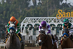 ARCADIA, CA FEBRUARY 10:  The start of the Santa Maria Stakes (Grade ll) on February 10, 2018 at Santa Anita Park in Arcadia, CA.(Photo by Casey Phillips/ Eclipse Sportswire/ Getty Images)
