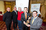 Outgoing TCA president Padraig McGillicuddy presented  john Drummey incoming president the Chain of Office at the Tralee Chamber Alliance AGM at the Meadowlands on Tuesday. Pictured also TCA members Danny Leane, Abbey Inn,  Kieran Ruttledge and John Walsh, Walsh Bro. Shoes